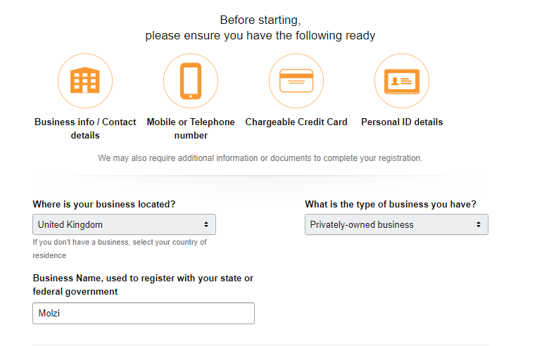 Amazon Account Fill in form